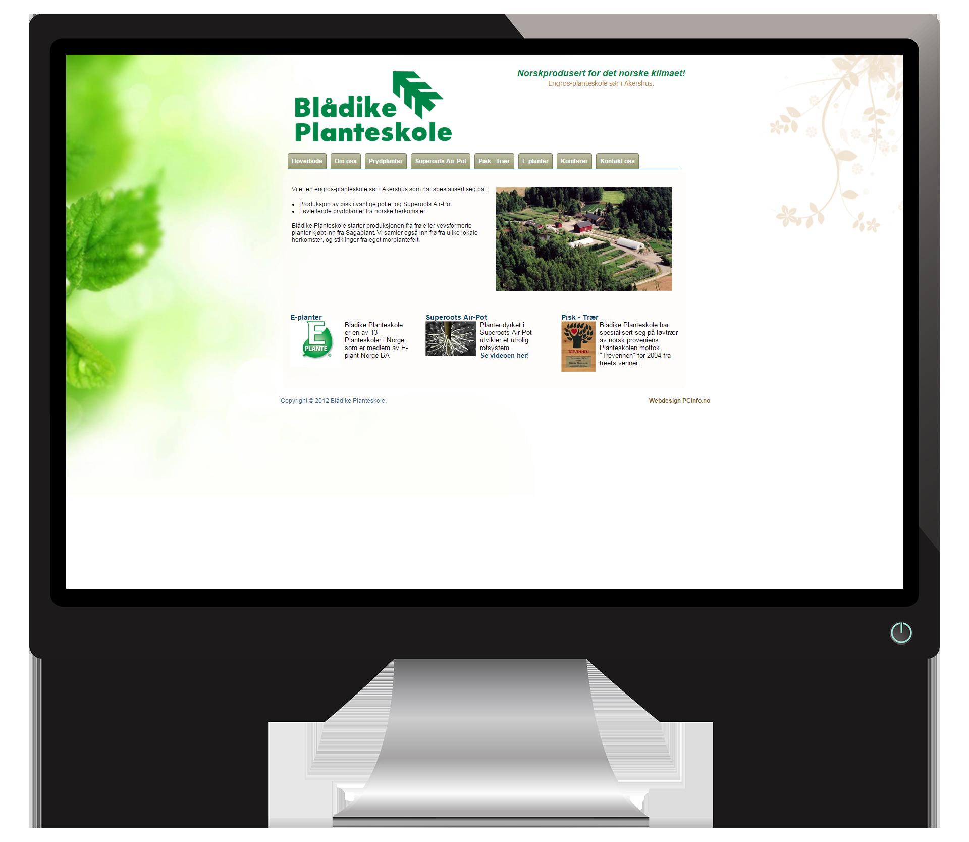 En pc-skjerm som viser nettsidene til Blaadike