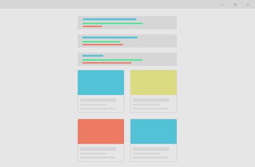 illustrasjon av en nettside med innhold på en side, en onepagers side