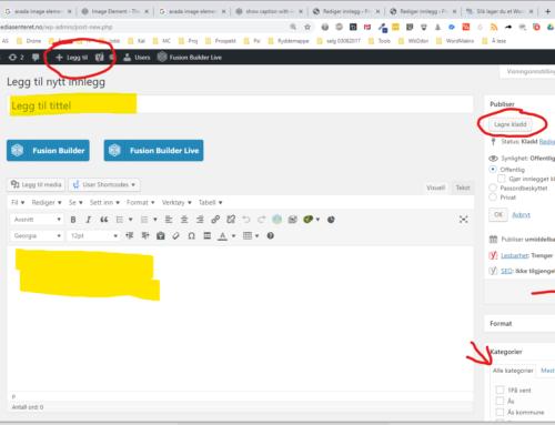 Slik lager du et WordPress innlegg