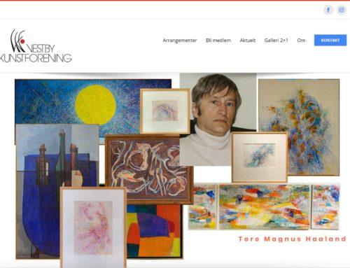 Vestby Kunstforening nettside